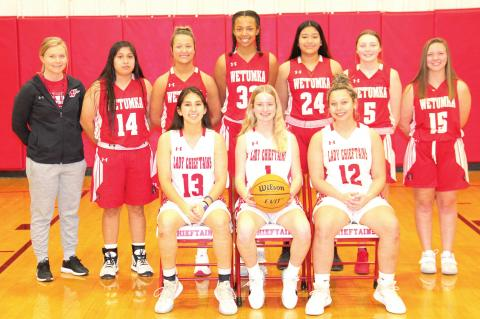 THE LADY CHIEFTAINS WILL PLAY WILSON FOLLOWING THE HOMECOMING CEREMONIES ON FRIDAY NIGHT, JANUARY 29.