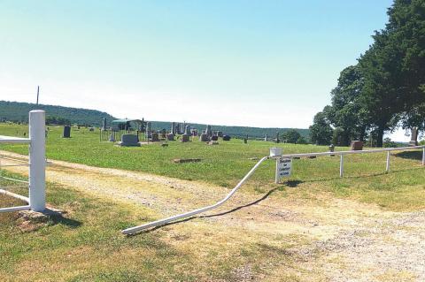 Carson Cemetery gate vandalized