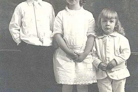 The little girl in the middle is my grandmother Wanda.