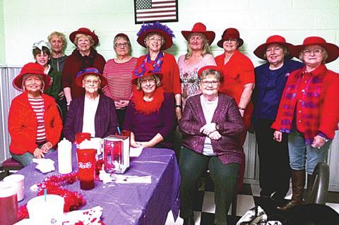 Red Hatters enjoy Valentine