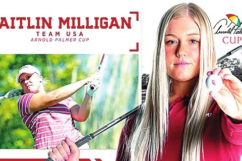Milligan first OU woman golfer to compete in USA's Arnold Palmer Cup; daughter of HHS graduate Kristi Herdlitchka Milligan