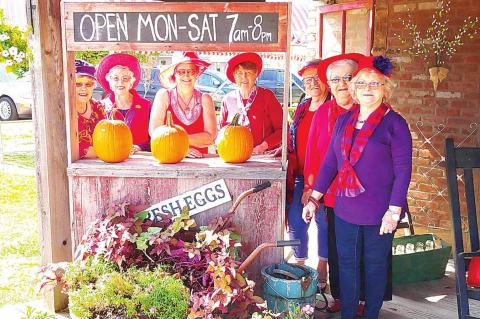 Red Hatters enjoy dining at Tomato Patch Cafe
