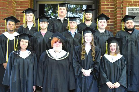 CONGRATULATIONS TO THE CALVIN SENIORS WHO RECEIVED THEIR HIGH SCHOOL DIPLOMA THIS PAST WEEK