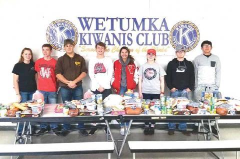 KIWANIS CLUB / KEY CLUB THANKSGIVING BASKETS—