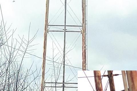 Wetumka tank tower has three leaks