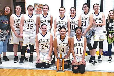 Weleetka girls finish third