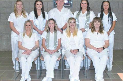 Seated L-R: Taylor Hanson, Jayda Bowling, Abigail Johnson, Stormy Burden. Standing L-R: Reanna Wilson, Madison Gill, Drayton Slyconish, Tierra Jinkins, Sara Louie.