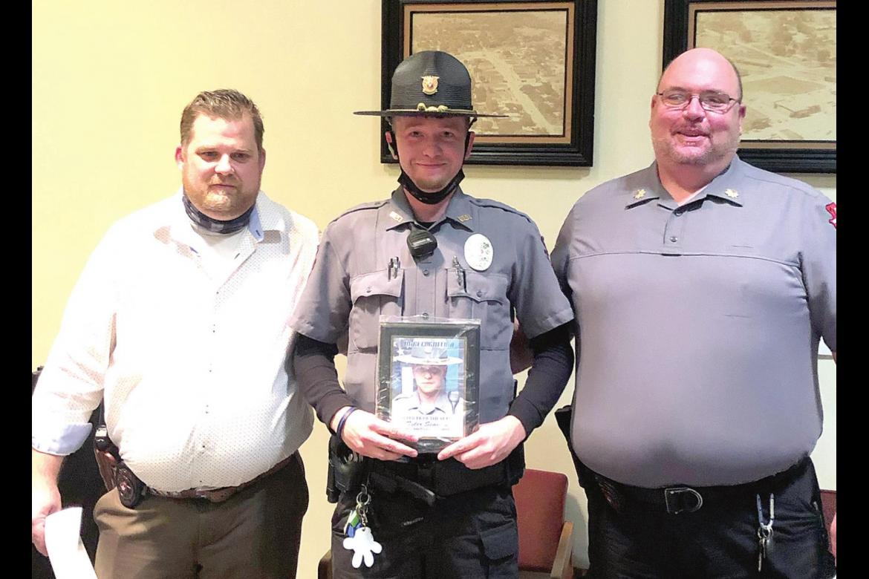 Tyler Seamon named Wetumka Police Officer of the Year