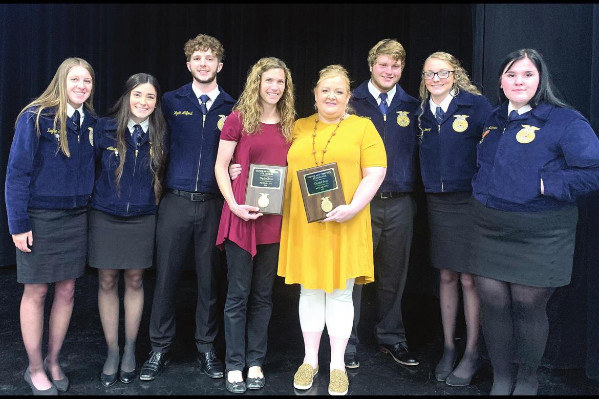 HONORARY MEMBERS OF THE WETUMKA FFA WERE RECOGNIZED AT THE RECENT BANQUET