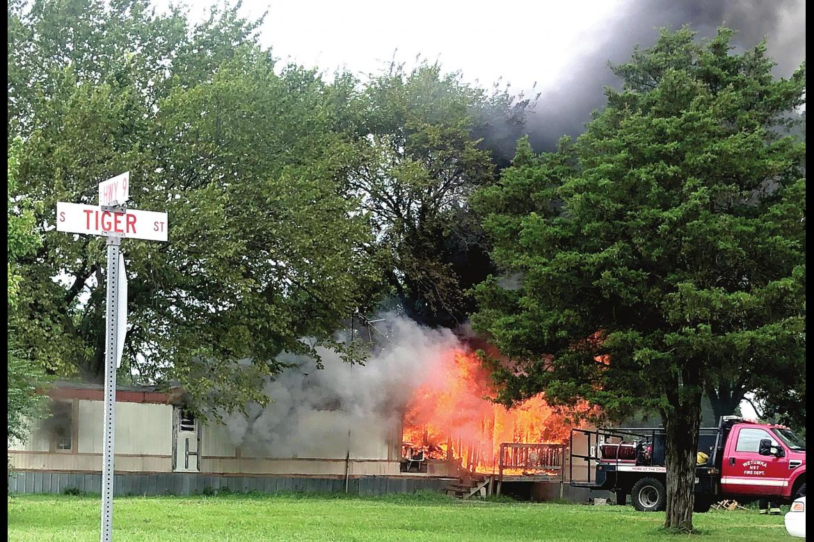 WETUMKA HOME DESTROYED BY FIRE...